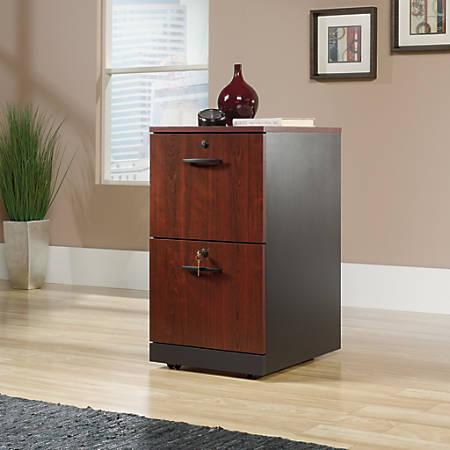 Sauder® Via 2-Drawer Pedestal, Classic Cherry/Soft Black