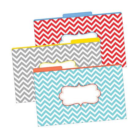 "Barker Creek Tab File Folders, 8 1/2"" x 14"", Legal Size, Chevron Beautiful, Pack Of 9"