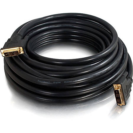 C2G 15ft Pro Series DVI-D CL2 M/M Single Link Digital Video Cable