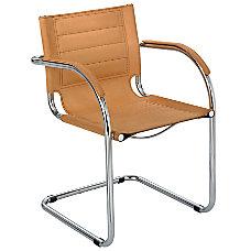 Safco Flaunt Guest Chair ChromeCamel Microfiber