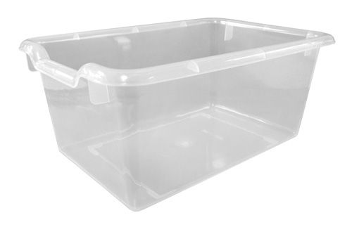 ECR4Kids Scoop Front Storage Bins 8 H x 12 W x 6 D Clear Pack Of 10
