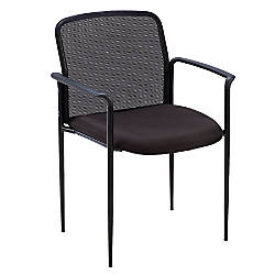 Lorell MeshFabric Stackable Reception Side Chair