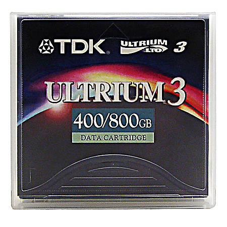 TDK LTO Ultrium 3 Data Cartridge, 400GB