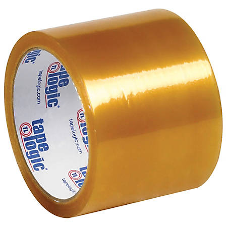 "Tape Logic® #51 Natural Rubber Tape, 3"" Core, 3"" x 110 Yd., Clear, Case Of 6"