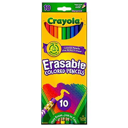 Crayola® Erasable Colored Pencils, Pack Of 10 Colored Pencils