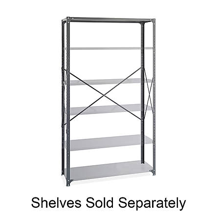 Safco® Industrial Steel Shelving Post Pack, Gray