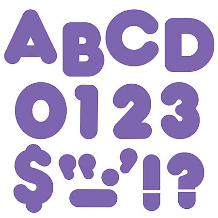 "TREND Ready Letters®, Casual, 4"", Purple, Pre-K - Grade 12, Pack Of 71"