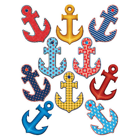 Teacher Created Resources Decorative Accents, Anchors, Multicolor, Pre-K - Grade 8, Pack Of 30