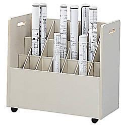 Safco Mobile Roll File 21 Compartments