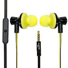 GOgroove AudiOHM iDX Earbud Headphones Yellow