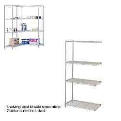 Safco Industrial Wire Shelving Add On