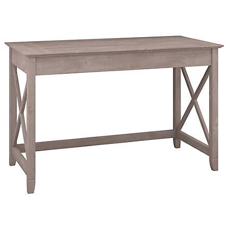 "Bush Furniture Key West Writing Desk, 48""W, Washed Gray, Standard Delivery"