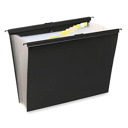 "Wilson Jones® Lightweight Slide-Bar Expanding File, Letter Size, 1 3/8"" Expansion, Black"