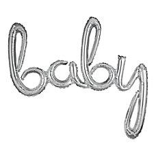 Amscan Baby Cursive Balloon Banner 34
