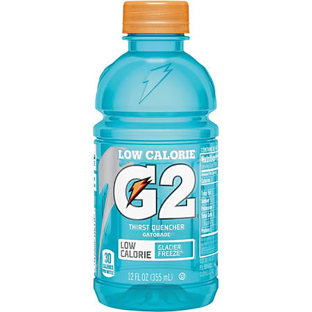 Gatorade G2 Thirst Quencher Low-Calorie Sports Drink, Glacier Freeze Flavor, 12 Oz, Carton Of 24 Bottles