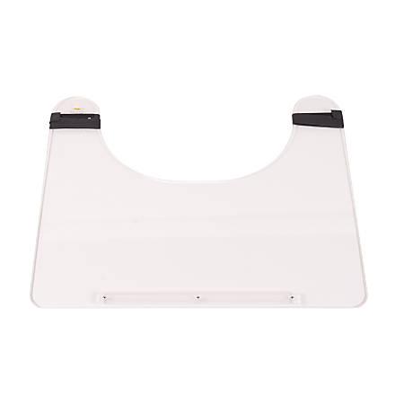 "DMI® Wheelchair Tray, Acrylic, 24""H x 20""W x 1/2""D, Clear"