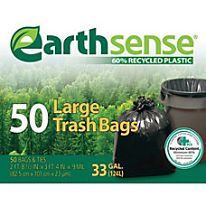 Webster EarthSense 60percent Recycled Trash Bags