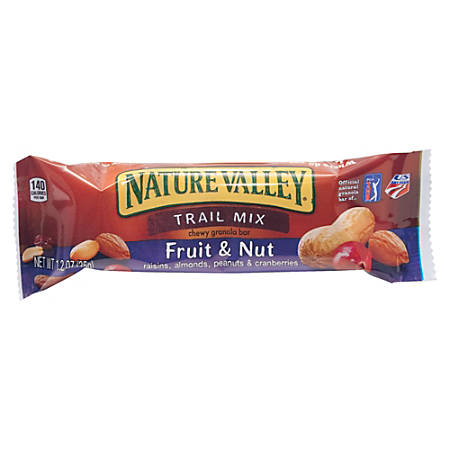 Nature Valley® Granola Bars, Chewy Trail Mix, 1.2 Oz, Box Of 16