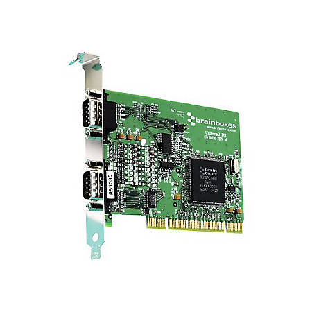 Brainboxes 1 Port RS232 plus 1 Port RS422/485 PCI Serial Card