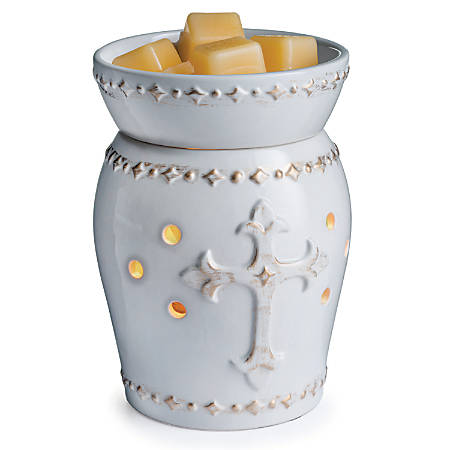 """Candle Warmers Etc Illumination Fragrance Warmers, 8-13/16"""" x 5-13/16"""", Faith, Case Of 6 Warmers"""