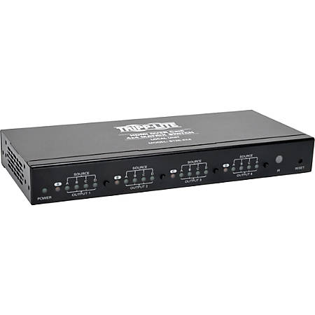 Tripp Lite HDMI over Cat5 Cat6 4x4 Matrix Video Extender Switch HDMI RJ45 F/F TAA - 1920 x 1080 - Full HD - 1080i - Twisted Pair - 4 x 4 - TAA Compliant