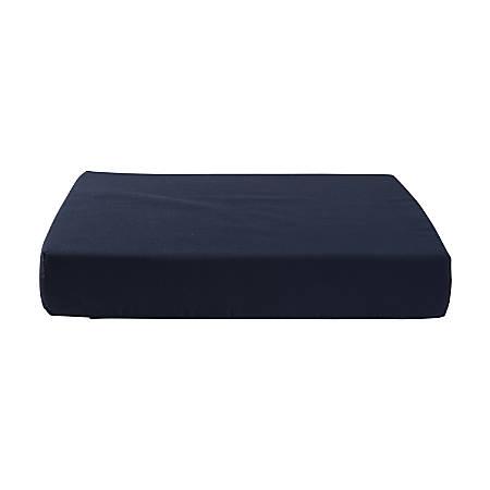 "DMI® Foam Seat Cushion With Cover, 3""H x 18""W x 16""D, Navy"