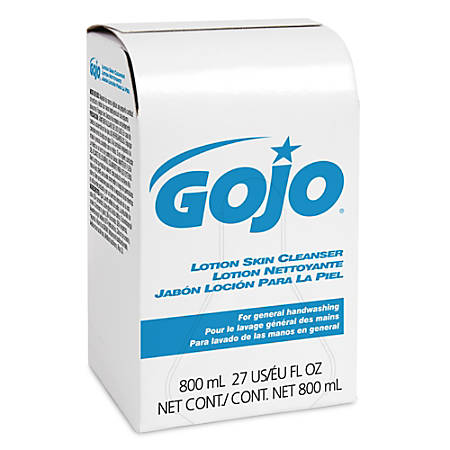 GOJO® Lotion Skin Cleanser Refill, Floral, 27.05 Oz, Pack Of 12 Bags