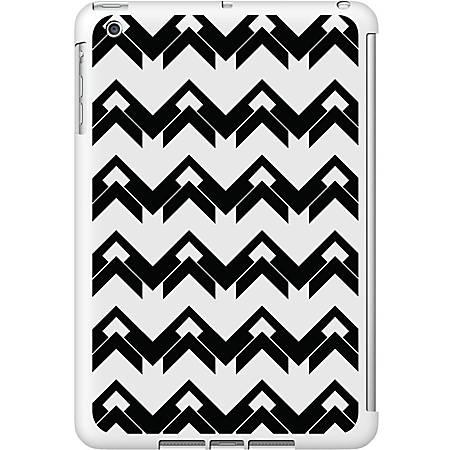 OTM iPad Mini White Glossy Case Black/White Collection,Herringbone