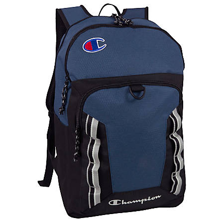 "Champion Forever Champ Expedition Backpack With 18"" Laptop Pocket, Navy"