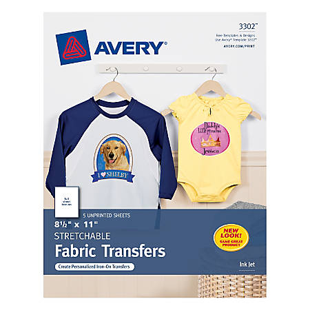 7e99385b9 Avery Personal Creations T Shirt Transfers Stretchable Pack Of 5 ...