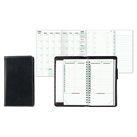 """Day-Timer® Verona Leather Starter Set With No Closure, 3 1/2"""" x 6 1/2"""", Black"""