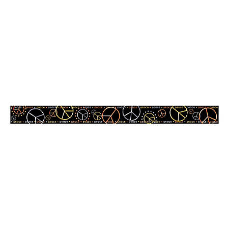 "Barker Creek Straight-Trim Border Sets, 3"" x 35"", Peace, Pre-K To College, Pack Of 36"