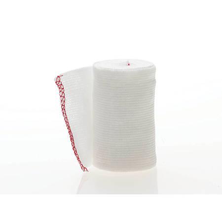 "Medline Non-Sterile Swift-Wrap Elastic Bandages, 3"" x 5 Yd., White, 10 Bandages Per Box, Case Of 5 Boxes"