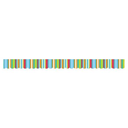 "Creative Teaching Press Stripes/Stiches Border - (Border) Shape - Stripes/Stiches - 2.75"" Width x 420"" Length - Turquoise - 1 Each"