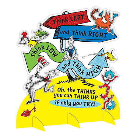 """Amscan Dr. Seuss Directional Sign Table Decorations, 13-3/4"""" x 12-5/16"""", Multicolor, Pack Of 2 Decorations"""