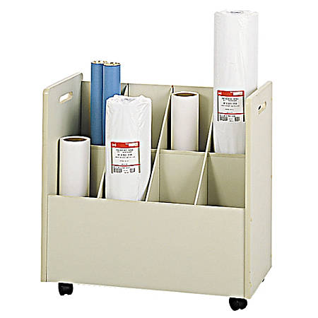 "Safco® Mobile Roll File, 8 Compartments, 7"" Tubes"