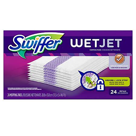 "Swiffer® WetJet System Refill Cloths, 14"" x 3"", 24 Cloths Per Pack, Box Of 4 Packs"