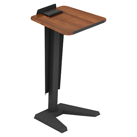 "Lorell® Impromptu Lectern With Modesty Panel, 45""H, Walnut"