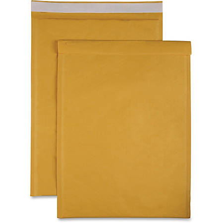 "Sparco Size 6 Bubble Cushioned Mailers - Bubble - #6 - 12 1/2"" Width x 19"" Length - Self-sealing - Kraft - 50 / Carton - Kraft"