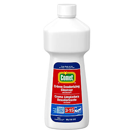 Comet® Creme Deodorizing Cleanser, 32 Oz, Carton Of 10
