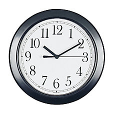 Round 8 12 Wall Clock Black