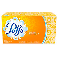 Puffs White 2 Ply Facial Tissue