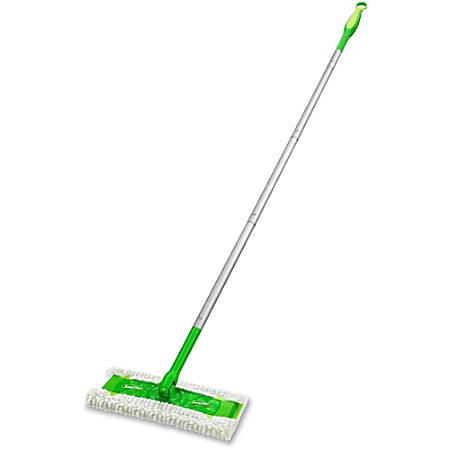 """Swiffer Sweeper - 10"""" Head - Swivel Head, Lightweight - 3 / Carton - Green"""