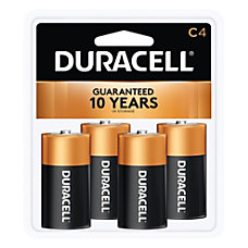 Duracell Coppertop Alkaline C Batteries Pack