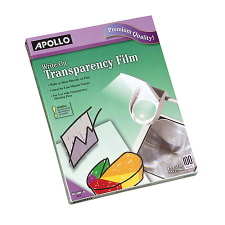 Apollo Write-On Film, Pack Of 100