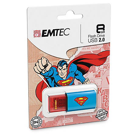 EMTEC Superhero USB 2.0 Flash Drive, Superheros, 8GB