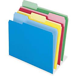 Pendaflex Cutless Color File Folders Letter