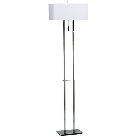 Kenroy Emilio Floor Lamp, Chrome/White