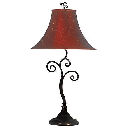 Kenroy Richardson Table Lamp, Bronze/Red/Gold
