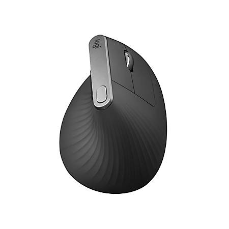 "Logitech® MX Vertical Wireless Mouse, 3""H x 3""W x 4-3/4""D, Black, 910-005447"